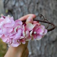 Pink Blossom Headpiece  Song of Love  by HoneyandLaceDesigns