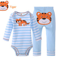 DANROL 2015 Baby Clothing Set bebe bodysuit Sets Baby Boy Casual Suits Girls Summer Sets 2 pieces/set=1 bodysuit + 1 pant