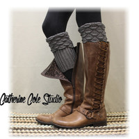 SPICE SCALLOP  Boot cuffs boot toppers mini leg warmers ladies boot cuffs knit boot cuffs womens Catherine Cole Studio BC2