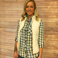 Winter White Quilted Vest