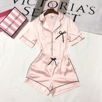 Victoria's Secret Women Shorts Robe Sleepwear Loungewear Set Two-Piece