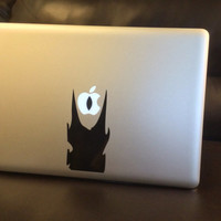 Eye of Sauron  -  Vinyl Decal - Apple logo - CHOOSE A COLOR! - Macbook Lightup art - LOTR - The Hobbit - Lord of the Rings