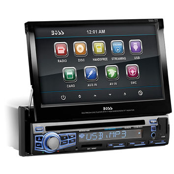"""Boss Audio Single Din 7"""" Motorized Touchscreen Monitor with Bluetooth"""