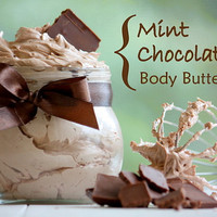 Organic Mint Chocolate Whipped Body Butter by EnchantedPrimitives