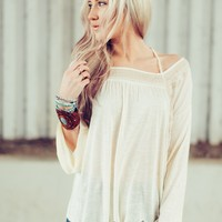 Winter Snow Ivory Embroidery Top