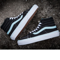 """VANS""High shoes mint green + black shoes  sneakers tide restoring ancient ways"