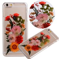 """Case for Iphone 6S Plus,Fifine® Iphone 6s Plus case ,Real Pressed Colorful Flowers Phone Case for Iphone 6 Plus/6S Plus 5.5""""-364"""