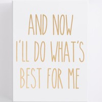 Best For Me Box Art | Canvases & Wood | rue21
