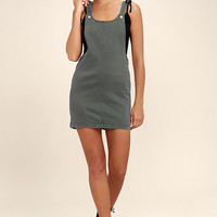 RVCA Oxley Grey Overall Dress