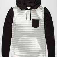 Rvca Set Up Mens Lightweight Hoodie White  In Sizes