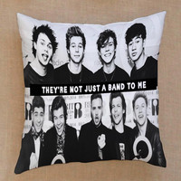 5 seconds of summer and one direction theyre not just a band to me pillow case one side or two side