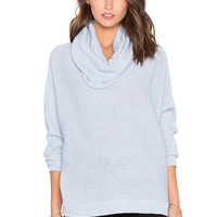 Bishop + Young Cowl Neck Sweater in Powder Blue