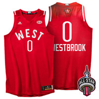 2016 Toronto NBA All-Star Western Conference Oklahoma City Thunder Russell Westbrook #0 Red Jersey