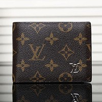 LV Men Leather Purse Wallet G