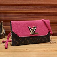 Perfect LV Women Shopping Leather Satchel Shoulder Bag Crossbody