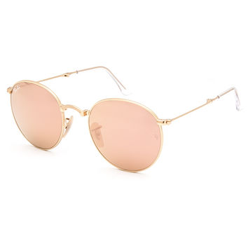 Ray-Ban Round Folding Sunglasses Rose Gold One Size For Women 27206362101
