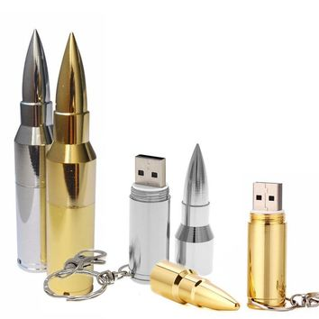 Bullet Shape USB From 4 to 64 GB