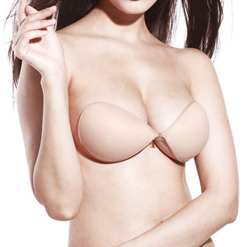 Sticky Strapless Backless Silicone Fabric Self Adhesive Invisible Bra #1