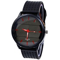 Men Silicone Stainless Steel Sport Watch