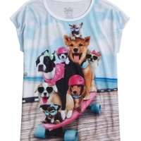 Skateboard Dogs Graphic Tee