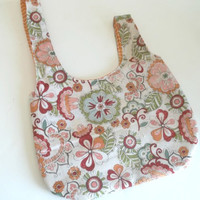 Knitting project Japanese knot bag 100% cotton 6x8   crochet project bag   Japanese Knot Purse   bridesmaid purse bag   small project bag