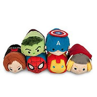 Disney Marvel Mini Tsum Tsum Set of 6 (spiderman, black widow, thor, hulk, iron man, and captain america)