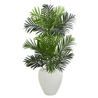 Artificial Tree -Paradise Palm Tree in White Planter