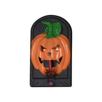 Halloween Party Horror Ghost Glowing Eyes Doorbell Haunted House Wall Decoration Kids Gift Toy Pumpkin Devil Skull Pendant #ET