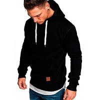 Men Casual Hooded Coat Hip Hop Sweatshirt