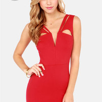 LULUS Exclusive Midnight Kiss Red Bodycon Dress