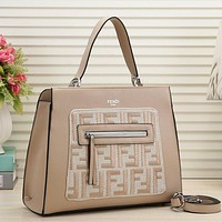 Fendi Women Fashion Leather Satchel Tote Handbag Shoulder Bag Crossbody