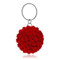 Family Friends party Board game NEW 2018 New Fashion Red Flower Lady Evening Bags luxury handbags women bags designer Dinner Wedding Bag Purse Elegant Bag AT_41_3