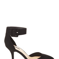FOREVER 21 Buckled Faux Suede Pumps