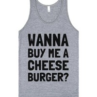 Time for a Cheese Burger!-Unisex Athletic Grey Tank