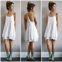 A Bohemian Sundress in White