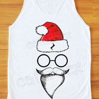 Santa Pott Head Shirt Merry Christmas Shirt Funny Shirt Women Tank Top Tunic Unisex Shirt Vest Women Sleeveless Singlet Women Shirt S,M,L
