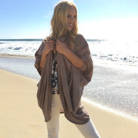 Out Of The Woods Knit Cardigan In Mocha