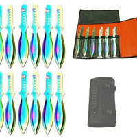 12 Pc Set Fancy Throwing Knives