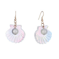 Tatty Devine Scallop Shells Earrings - Pearl Iridescent