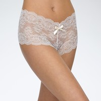 Luxe Lace Crotchless Hipster Brief Panty by Hanky Panky