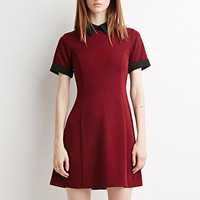 Block Peter pan Collar A-line Mini Dress