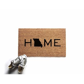 Custom Home State Doormat