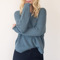 Marlow Sweater - Vintage Blue