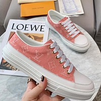 LV 2020 new denim canvas women's sneakers shoes