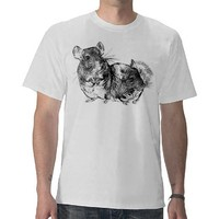 Chinchilla friends t shirt from Zazzle.com