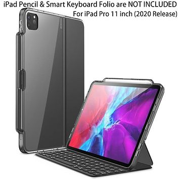 I-BLASON Halo Case For iPad Pro 11 (2020) [ONLY Compatible with Official Smart Keyboard Folio] Hybrid Cover with Pencil Holder