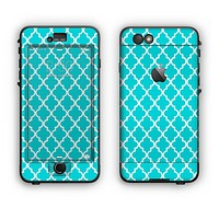 The Morocan Teal Pattern Apple iPhone 6 LifeProof Nuud Case Skin Set