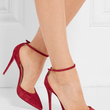 Christian Louboutin - Uptown 100 suede pumps