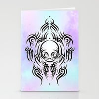 Alien Tribal Tattoo Stationery Cards by Chobopop