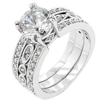 Elnora 2.8(ct) Round Cut Engagement and Wedding Set | 7ct